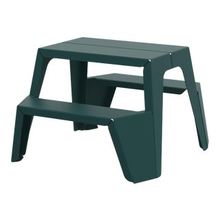 Small Rambler Picnic Table in Moss For Sale