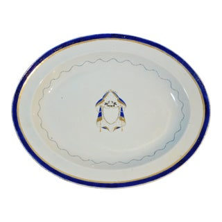 Chinese Export Porcelain Armorial Marriage Platter With Lovebirds, Circa 1790 For Sale