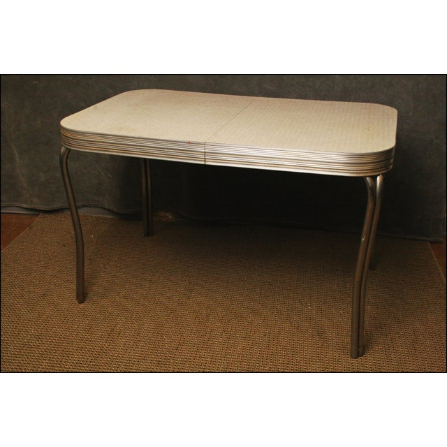 Mid-Century Modern White Formica Dinette Table - Image 4 of 12