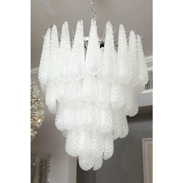 Glass Murano Glass Honeycomb Chandelier For Sale - Image 7 of 7