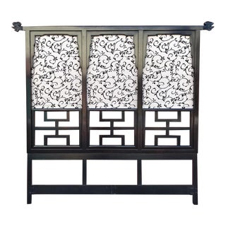 Asian Century Furniture High and Dramatic Headboard For Sale