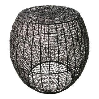 C'est Beau1872 Mesh Pattern Side Table Black For Sale