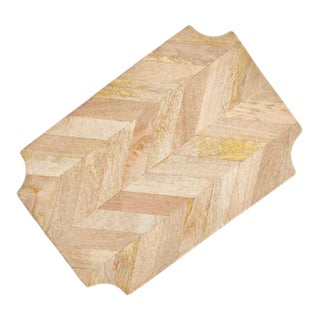 Mid 20th Century Marquetry Rectangle Serving Board from Kenneth Ludwig Chicago For Sale
