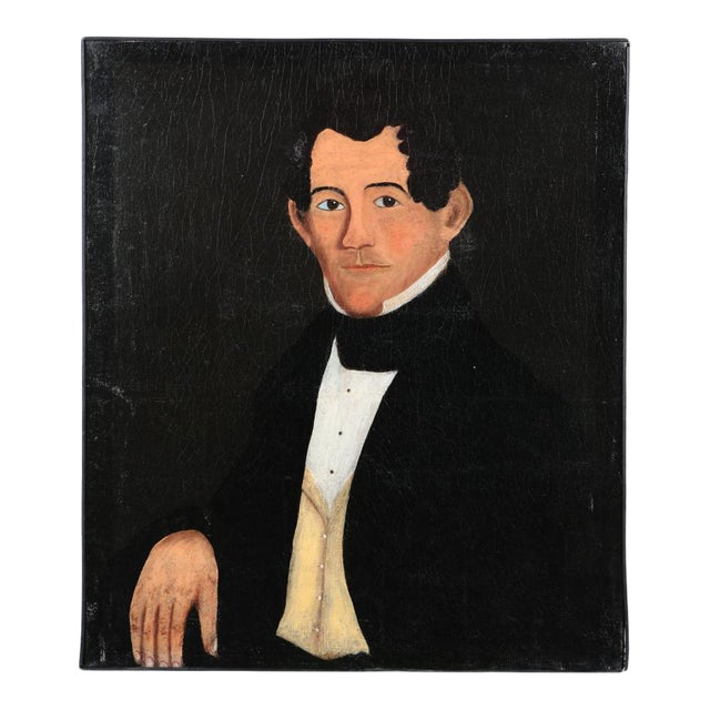 Antique Oil Painting Prior-Hamblin School Portrait of a Gentleman For Sale