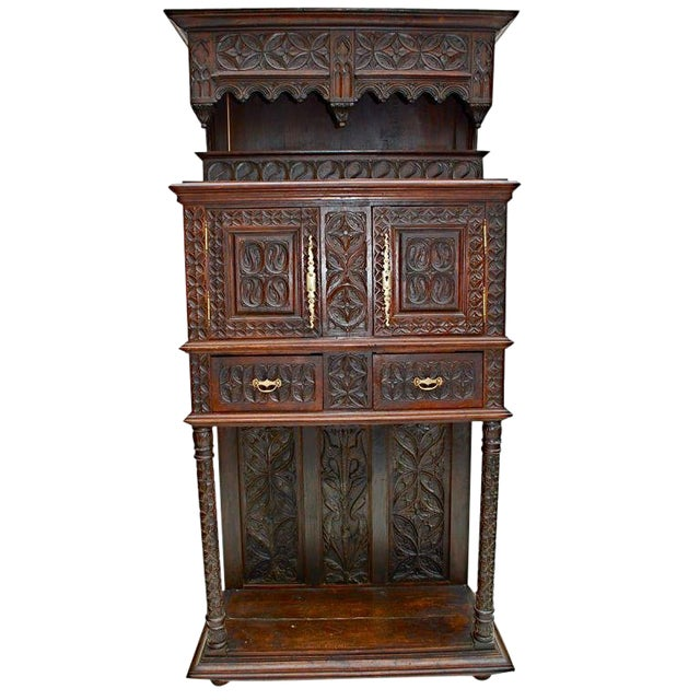 French Gothic Buffet For Sale