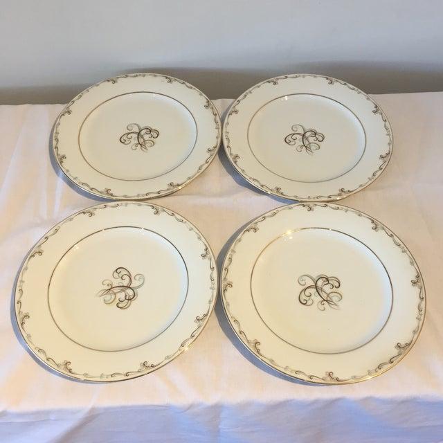 Noritake Esteem Gold Rimmed Plates - Set of 4 - Image 2 of 5