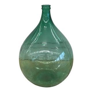 Green Glass Demijohn Bottle For Sale