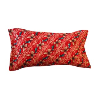 Reversible Vintage Kantha Pillow Cover For Sale