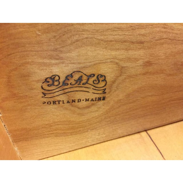 1970s Vintage Traditional Beals Maple Secretary Desk For Sale - Image 5 of 10