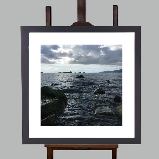 Americana Limited Edition Framed Art by Artist B. Leeds Titled Vancouver Ships For Sale - Image 3 of 3
