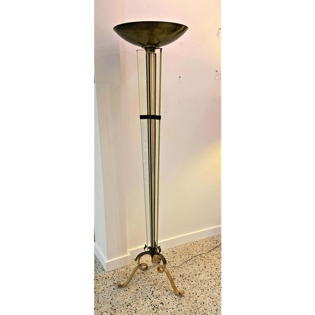 Art Deco Floor Lamp by Jules Leleu 1920s-1930s For Sale - Image 11 of 12