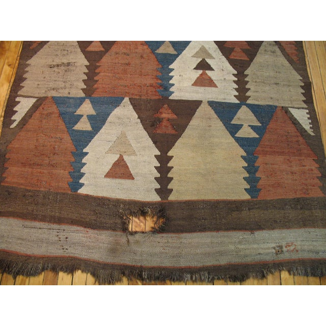 Lodge Vintage American Navajo Rug - 5′2″ × 9′5″ For Sale - Image 3 of 6