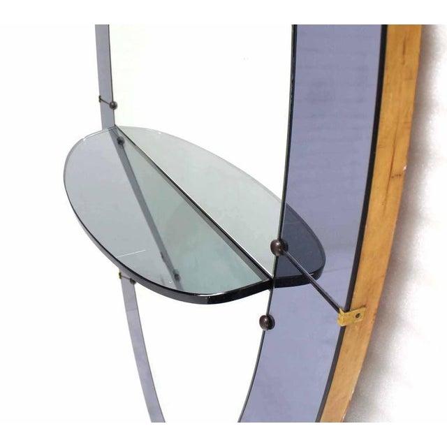 Art Deco Oval Cheval Art Deco Floor Mirror with Shelf Vanity For Sale - Image 3 of 4