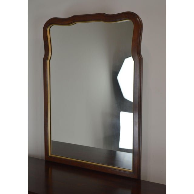 Statton Solid Cherry Long Dresser With Mirror For Sale - Image 4 of 13