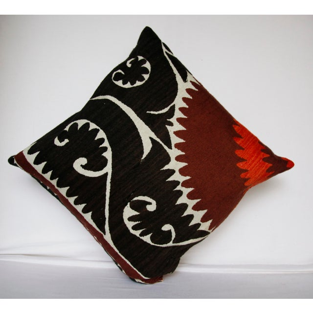 This is a handmade Suzani pillow cover made from old Uzbekistan. It's made in my small workshop. I did soft washing. I...