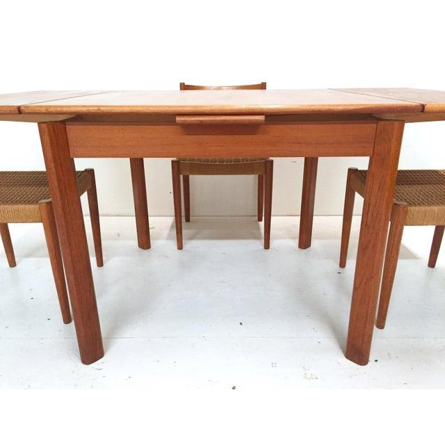 1960s Danish Mid-Century Modern Teak Dining Set - Image 7 of 11