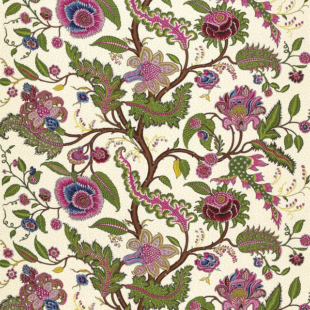 Schumacher Sinhala Sidewall Wallpaper in Jewel For Sale