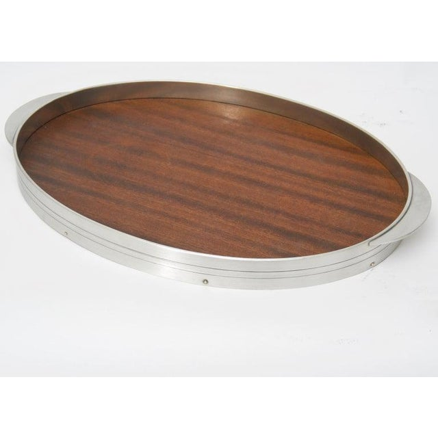 Mahogany Modern Pewter and Mahogany Coffee and Tea Service by KMD Royal Holland - 5 Pc. Set For Sale - Image 7 of 13