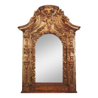 17th Century Italian Giltwood Mirror For Sale