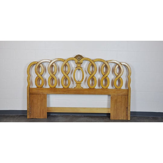 1960's Vintage French Provincial King Headboard - Image 2 of 5