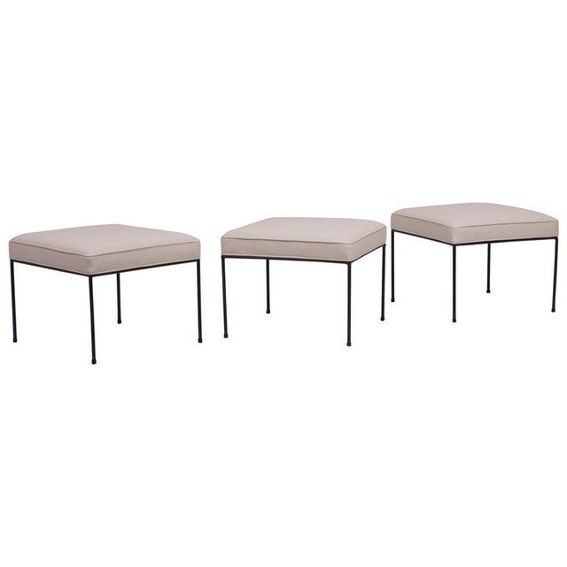 Metal Set of Three Paul McCobb Wrought Iron Stools For Sale - Image 7 of 7