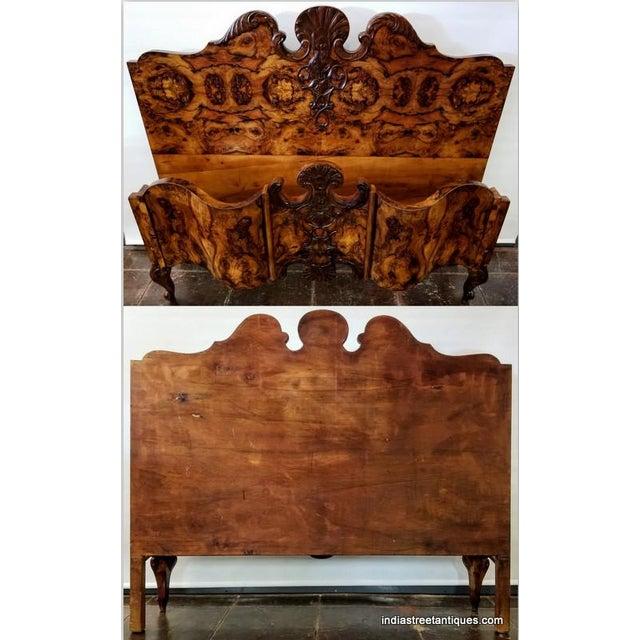 Rococo Antique Italian Olive Wood Neo-Rococo Venetian Baroque Six Piece Bedroom Suite For Sale - Image 3 of 13