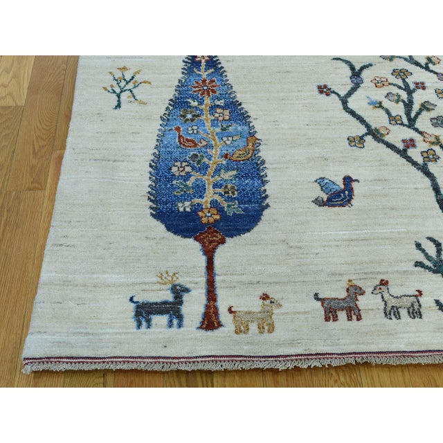 2010s Hand-Knotted Wool Tree Design Peshawar Rug- 12′3″ × 15′6″ For Sale - Image 5 of 13