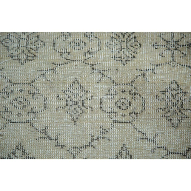 "Mid-Century Distressed Oushak Rug - 7'10"" X 10'8"" For Sale - Image 10 of 10"