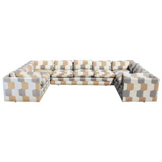 1970s Mid-Century Modern John Mascheroni for Swaim 3 Piece Sectional Sofa For Sale