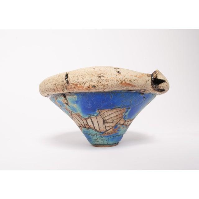 Rustic Organic Aquatic Clay Bowl/Planter For Sale - Image 3 of 6