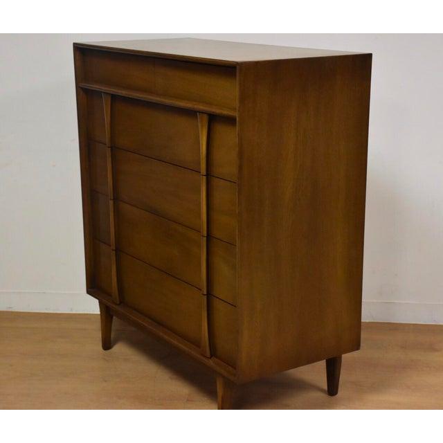 Mid-Century Modern Albe Furniture Mid-Century Modern Tall Dresser For Sale - Image 3 of 8