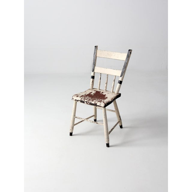 Superb Antique White Primitive Chair Chairish Ncnpc Chair Design For Home Ncnpcorg