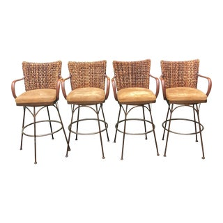 Palacek Havana Swivel Bar Stools - Set of 4 For Sale
