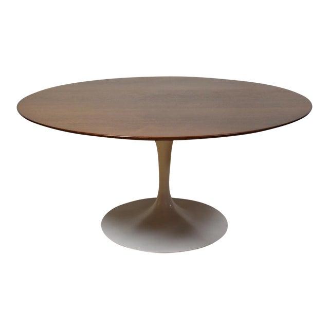 Eero Saarinen For Knoll Walnut Tulip Dining Table Chairish - Walnut tulip dining table