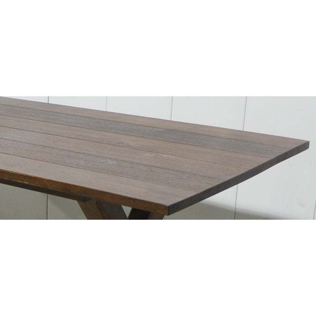 Custom X Base Mahogany Dining Table For Sale - Image 9 of 12