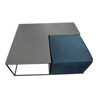 Minimalist B&b Italia Coffee Table With Ottoman - 2 Pieces For Sale