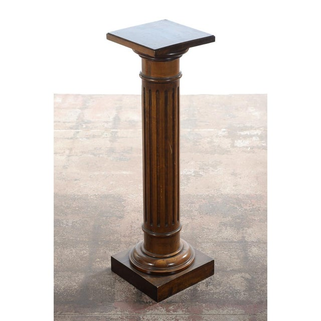 Antique Carved Colonial Walnut Pillar Pedestal - Image 2 of 10