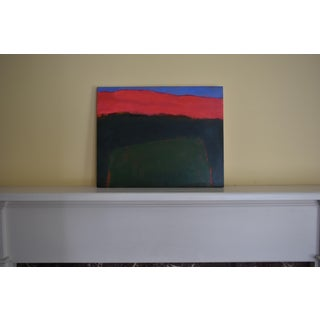 """Field Rising at Sunset"". Contemporary Abstract Painting by Stephen Remick Preview"