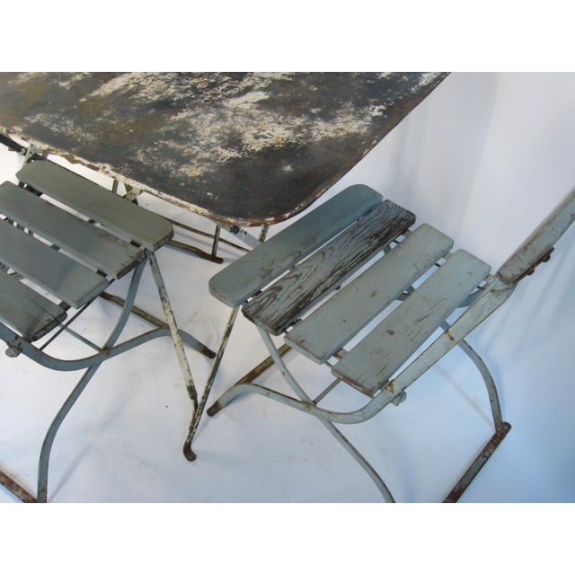 Antique French Bistro Dining Set For Sale - Image 4 of 8
