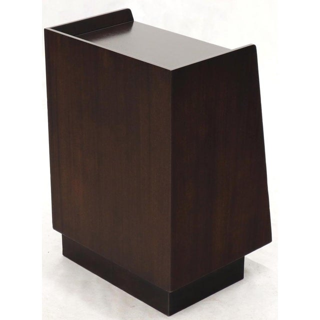 Wood Pair of Edward Wormley for Dunbar Dark Chocolate End Tables Nightstands For Sale - Image 7 of 13