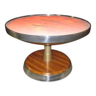 1970s Nino Zoncada for SS Stella Solaris Cruise Ship Illuminated Side Table For Sale