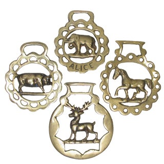 English Equestrian Brass Collection, S/4 For Sale