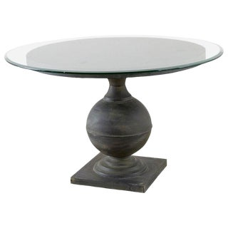 Neoclassical Patinated Metal Pedestal Dining or Centre Table For Sale