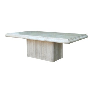 Vintage Mid Century Travertine Coffee Table For Sale