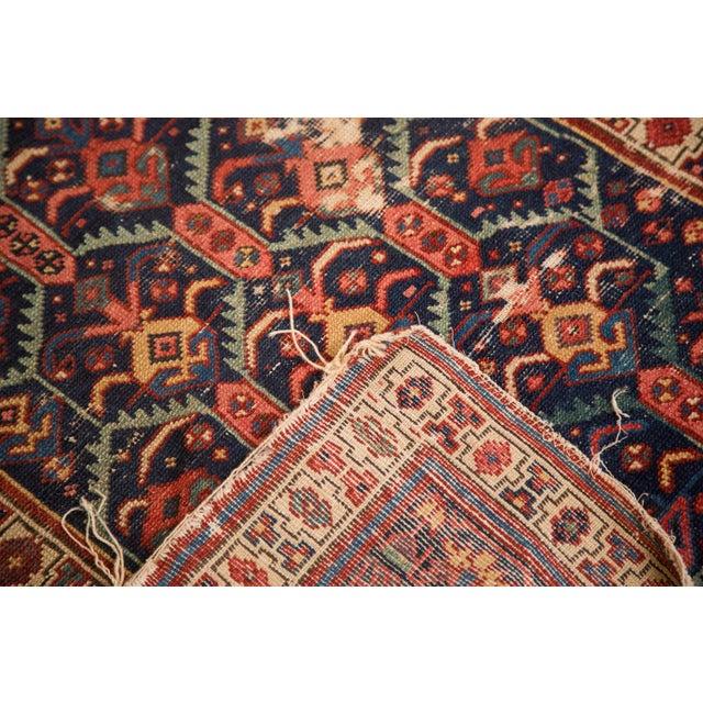 "Textile Antique Caucasian Rug Runner - 3'5"" x 7'10"" For Sale - Image 7 of 8"
