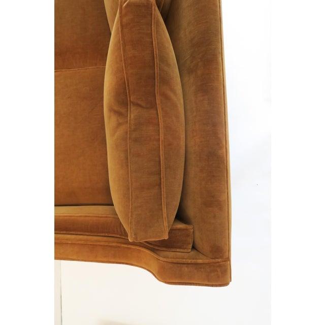 Brown Custom Modern Thin Arm Sofa For Sale - Image 8 of 8