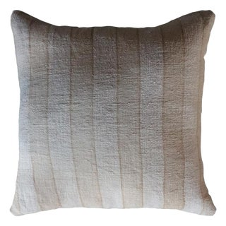 Vintage Striped Linen Pillow For Sale