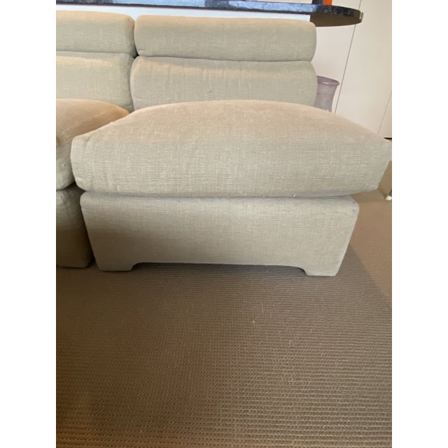 Tan 1970's Modular Sectional Sofa for Directional For Sale - Image 8 of 13