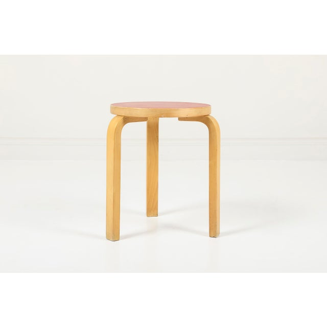 "Alvar Aalto | Artek Finland, 1970's Birch, Laminate 15""W x 17.5""H Vintage model 60 stool designed in 1933, by Alvar Aalto..."