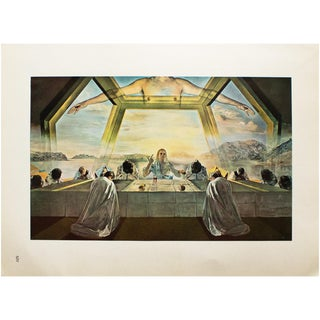 "1957 Salvador Dalí ""The Last Supper"", Original Period Photogravure For Sale"
